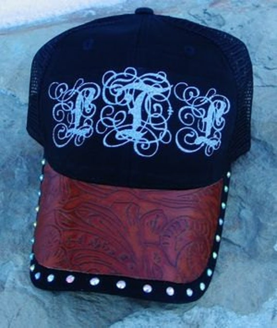 Western Monogramed Trucker/Ball Cap