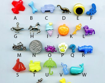ABC trinkets AND/OR letters for I Spy, I Spy bags, sensory bins, educational games, teaching, crafts.  Trinkets as shown.  Set 3