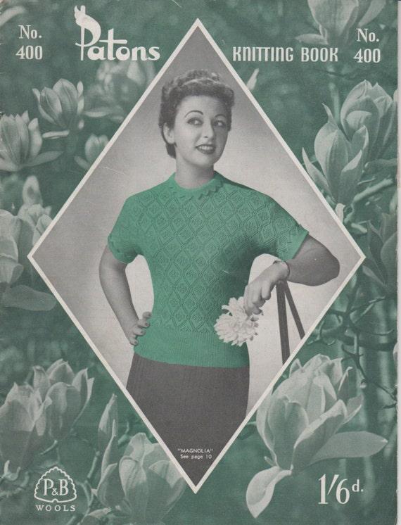 Vintage Knitting Books : Vintage s knitting book patons no ladies patterns