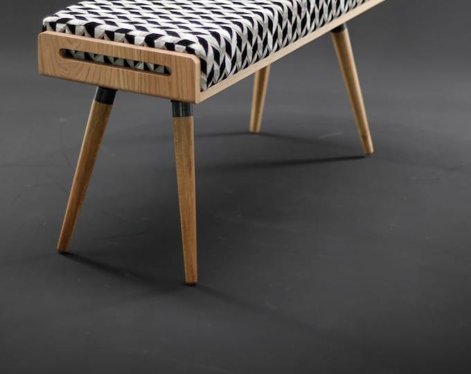 Stool / Seat / Ottoman / bench in oak and oak legs