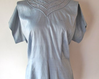 1940s Blouse w/ Embroidery