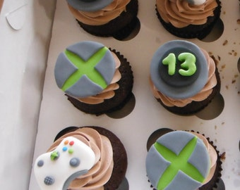 Xbox Video Game cupcake toppers