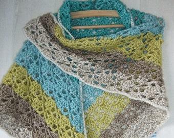 crochet kerchief, scarf