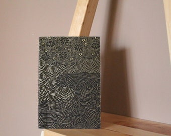 """Landscape - Black and gold"" hand-bound book"