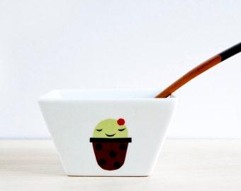 Porcelain cactus bowl, Ceramic white bowl, Modern pottery, Modern ceramic bowl, Ceramics & Pottery, Porcelain bowls, Botanical decor ceramic