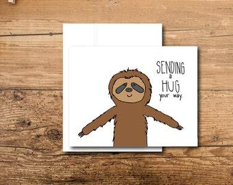 Hug Card - Sloth Card