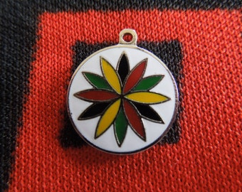 Vintage Enamel Pennsylvania Dutch Hex Sign Charm for Bracelet from Charmhuntress 02989