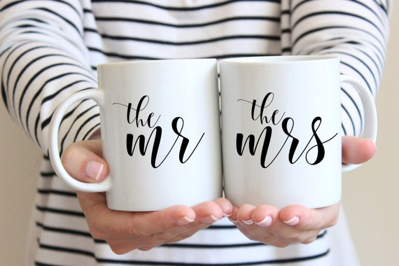 The Mr and The Mrs Mug Set