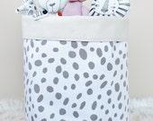 TAUPE DOTS Storage Bin Storage Basket Toy Organizer Fabric Bucket