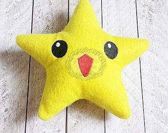 Star Stuffed Toy - Plush, Imagination, Stars, Mario, Snuggle toy, cuddly, Astronomy, Yellow, Plushie