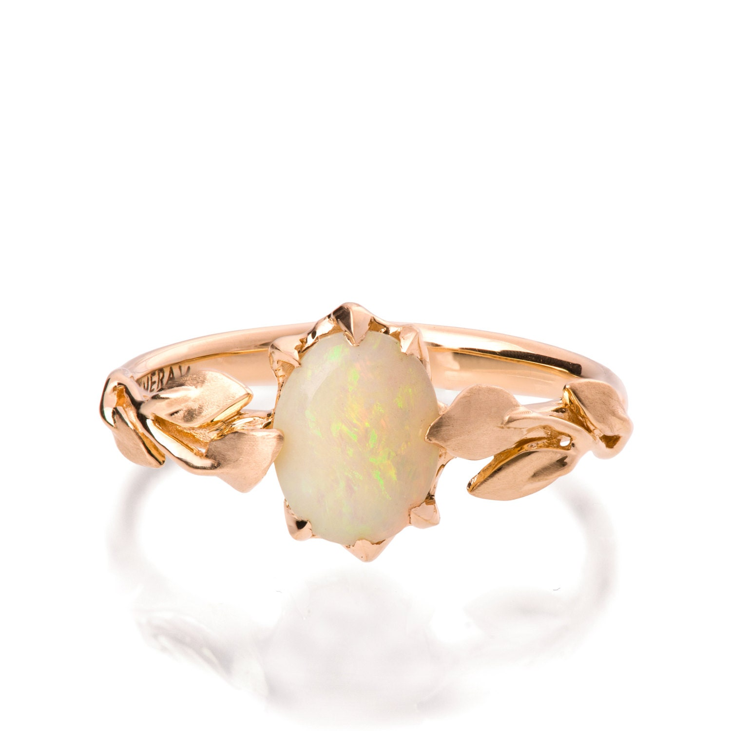 opal engagement ring opal ring opal 18k rose gold ring opal With opal wedding rings rose gold