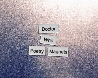 Doctor Who Refrigerator Magnets, Poetry Word Magnets, Dr. Who, Free Gift Wrap