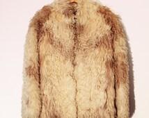 VINTAGE 60S PENNY LANE Shearling Bohemian Hippie Coat Shag Coat Lamb Fur Mongolian Coat