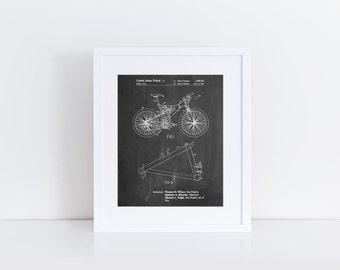 Mountain Bike Patent Art, Trek Bike, Bike Art, Bike Poster, PP0965