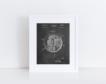 Earth Satellite Patent Poster, Outer Space Wall Art, NASA Poster, Space Art, PP0052