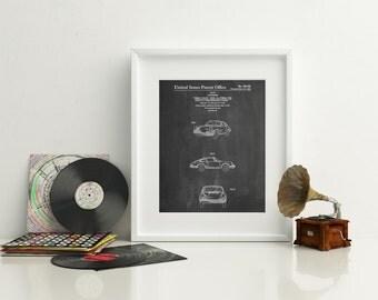 Sports Car Patent Poster, Sports Car, Classic Car, Teen Boy Room Decor, Car Poster, PP0144