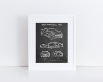 Sports Car Carbon Edition Patent Poster, Car Enthusiast, Car Wall Decor, Garage Art, Boys Room Decor, PP0708