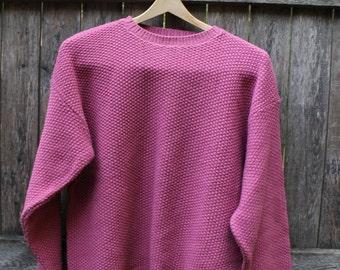 Mauve Blush Pink Simple Waffle Knit Sweater