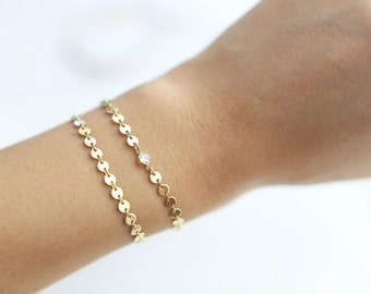 Coin Tattoo Bracelet