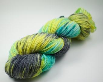 "DK Weight Yarn - 100g, 218 yards - ""Yacht"" Hand Dyed Yarn - Merino Wool"