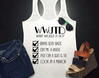 What Would Justin Timberlake Do? Racerback Tank