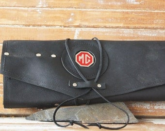 Leather tool roll with MG Medallion
