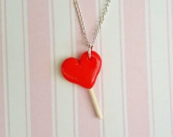 Heart Lollipop Necklace