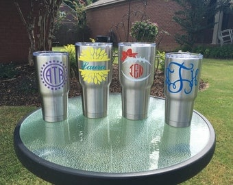 Personalized Stainless Steel Tumbler ~ Monogram Tumbler ~ Customized Tumbler ~ Personalized Cup ~ Gifts for Her ~ Gifts for Him ~ Summer