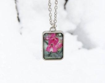 Dogwood Blossom Pendant Necklace