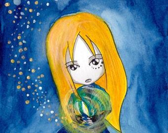 Ana Dess in The little match-seller - Illustration