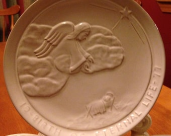 "Collectable Frankoma 1977 ""Birth of Eternal Life"" Christmas Plate"