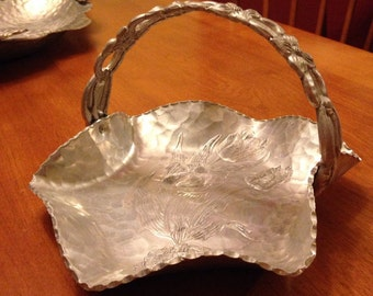 Small Vintage Hand Forged Aluminum Tray by Rodney Kent