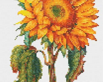 Sunflower Stitch Pattern PDF ** Instant Download **
