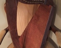 "This is ""Ardan"" a 15 string small upright lap harp"