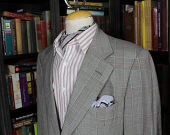 "Glen Plaid Gieves & Hawkes Suit; chest 44"""