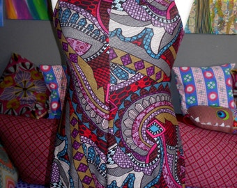 Elf tip dress hood psychedelic hippie boho Goa S / M 36/38