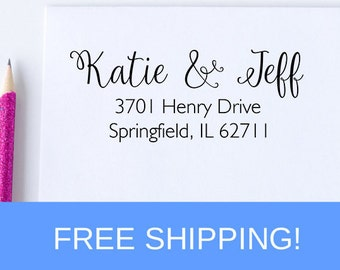 Self Inking Return Address Stamp - Address Stamp - Personalized Stamp  (D136)