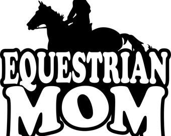 Equestrian Mom Hoodie/ Equestrian Mom Sweatshirt/ Equestrian Mom Clothing/ Equestrian Mom Gift/ Girl Rider Equestrian Mom Hoodie Sweatshirt