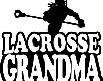 Lacrosse Grandma Hoodie/ Lacrosse Grandma Sweatshirt/ Lacrosse Grandma Gift/ Lacrosse Grandma/Girl Player Lacrosse Grandma Hoodie Sweatshirt
