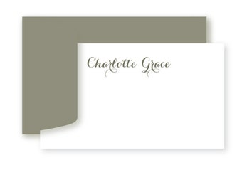 Personalized Gift Enclosure Cards, Personalized, Set of 10, Calligraphy