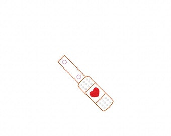 Bandage - Heart - First Aid - Nurse - Key Fob In The Hoop - DIGITAL Embroidery DESIGN
