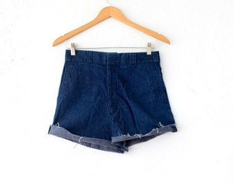 Vintage Levi High Waisted Denim Shorts // Levi's Jean Cut Off Shorts