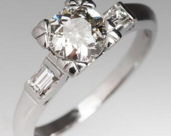 Antique Classic 1930s Old European Cut Diamond Engagement Ring WM10470