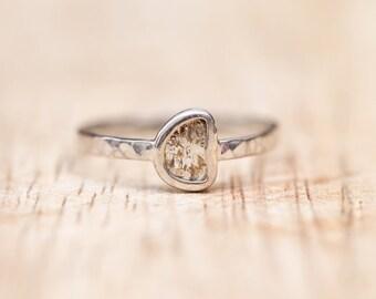 Half Moon - Diamond Slice Ring