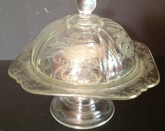vintage glass covered cupcake pastry stand