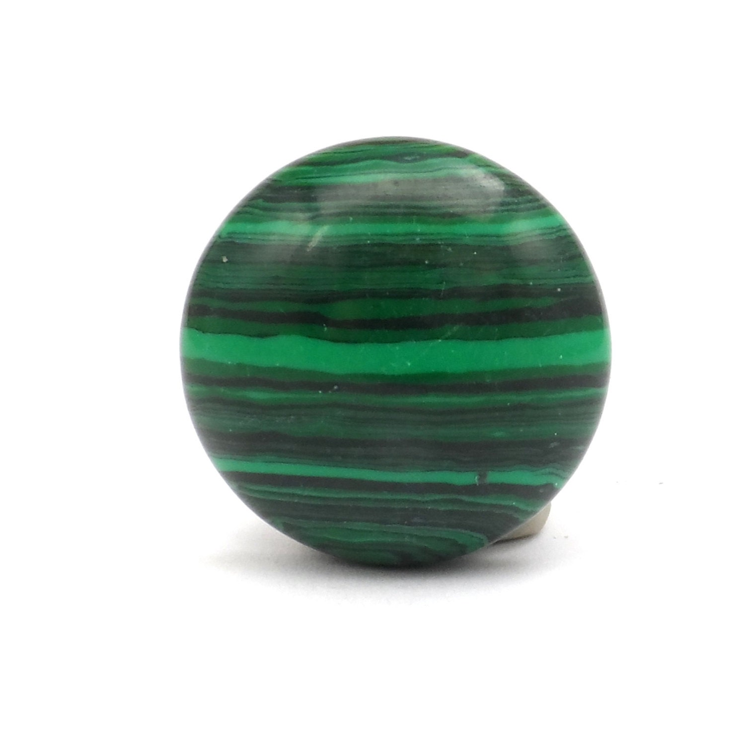 Round Green Marble : Malachite cabochon round green stone by