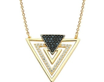 Triangles 14K Solid Gold Necklace Fine Jewellery by Fiemma Geometric  Necklace DHL Express Fast Shipping