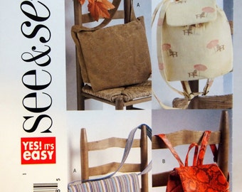 Utility Bags Butterick See & Sew B4583 Uncut Sewing Pattern 2005