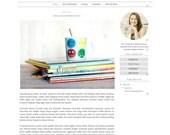 Responsive Blogger Template - Simple Watercolor Blog Design - Blog Theme - Blog Layout - Blogspot Template