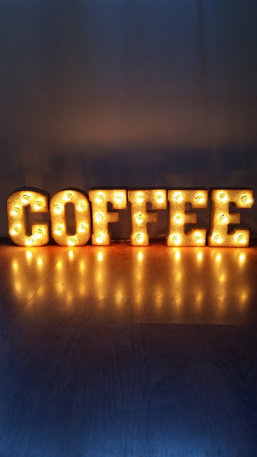 Metal Marquee Sign 7 COFFEE Marquee Lights